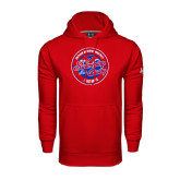 Under Armour Red Performance Sweats Team Hood-Swim and Dive Design
