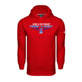 Under Armour Red Performance Sweats Team Hood-Track and Field Design