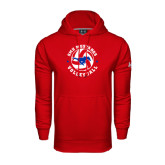 Under Armour Red Performance Sweats Team Hood-Mustang on Volleyball