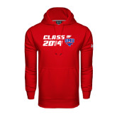 Under Armour Red Performance Sweats Team Hoodie-SMU Class of Design