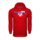 Under Armour Red Performance Sweats Team Hood-#PonyUpTempo Flat