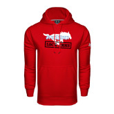 Under Armour Red Performance Sweats Team Hoodie-#PonyUpTempo Lock Arms