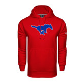 Under Armour Red Performance Sweats Team Hoodie-Official Outlined Logo