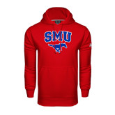 Under Armour Red Performance Sweats Team Hoodie-SMU w/Mustang