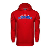 Under Armour Red Performance Sweats Team Hoodie-Arched SMU Mustangs
