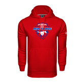 Under Armour Red Performance Sweats Team Hood-Mustangs in Shield