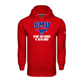 Under Armour Red Performance Sweats Team Hoodie-Swimming and Diving