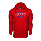 Under Armour Red Performance Sweats Team Hood-Mustangs in Football