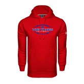Under Armour Red Performance Sweats Team Hood-Athletic Mustangs in Football
