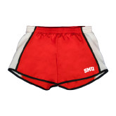 Ladies Red/White Team Short-Block SMU