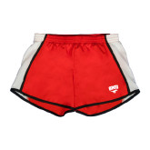 Ladies Red/White Team Short-SMU w/Mustang
