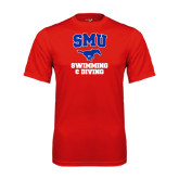 Performance Red Tee-Swimming and Diving