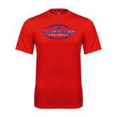 Performance Red Tee-Athletic Mustangs in Football
