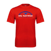 Performance Red Tee-Arched Football Design