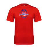 Performance Red Tee-Tall Football Design