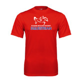 Performance Red Tee-Equestrian Design