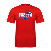 Performance Red Tee-Soccer Swoosh