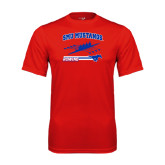 Performance Red Tee-Rowing Design