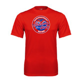 Performance Red Tee-Swim and Dive Design