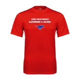 Syntrel Performance Red Tee-Stacked Swim and Dive Design