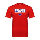 Performance Red Tee-Tennis Design