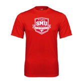 Syntrel Performance Red Tee-A Century of SMU Athletics
