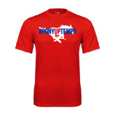 Performance Red Tee-#PonyUpTempo Flat