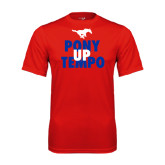 Performance Red Tee-Pony Up Tempo Stacked