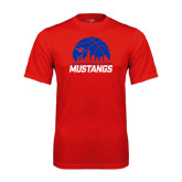 Performance Red Tee-Mustangs Basketball Dallas Skyline