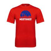 Syntrel Performance Red Tee-Mustangs Basketball Dallas Skyline