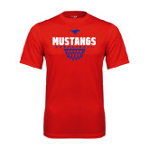 Performance Red Tee-Mustangs Basketball Net Icon