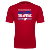 Performance Red Tee-2017 AAC Regular Season Mens Basketball Champions Stacked