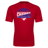 Performance Red Tee-2017 AAC Regular Season Champs - Mens Basketball Half Ball