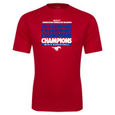 Performance Red Tee-2017 AAC Regular Season Champions Repeating - Mens Basketball