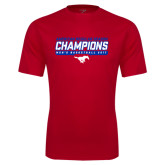 Performance Red Tee-2017 AAC Regular Season Champions - Mens Basketball Stencil