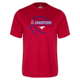 Performance Red Tee-2017 AAC Conference Champions - Mens Basketball Contour Lines