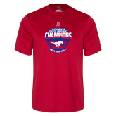Performance Red Tee-2017 AAC Conference Champions - Mens Basketball Arched Shadow