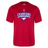 Performance Red Tee-2017 AAC Conference Champions - Mens Basketball Arched Banner