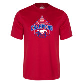 Performance Red Tee-2017 AAC Conference Champions - Mens Basketball Arched Net