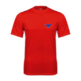 Performance Red Tee-Official Outlined Logo