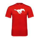 Syntrel Performance Red Tee-Official Logo