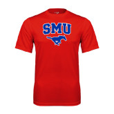 Syntrel Performance Red Tee-SMU w/Mustang