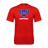Performance Red Tee-Stacked SMU w/Mustang