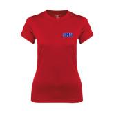 Ladies Syntrel Performance Red Tee-Block SMU