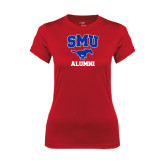 Ladies Syntrel Performance Red Tee-Alumni