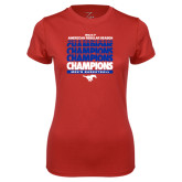 Ladies Syntrel Performance Red Tee-2017 AAC Regular Season Champions Repeating - Mens Basketball