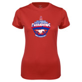 Ladies Syntrel Performance Red Tee-2017 AAC Conference Champions - Mens Basketball Arched Shadow