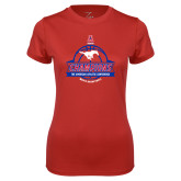 Ladies Syntrel Performance Red Tee-2017 AAC Conference Champions - Mens Basketball Banners