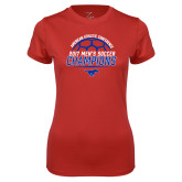 Ladies Syntrel Performance Red Tee-2017 Mens Soccer Champions