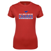 Ladies Syntrel Performance Red Tee-2017 Mens Soccer Champs